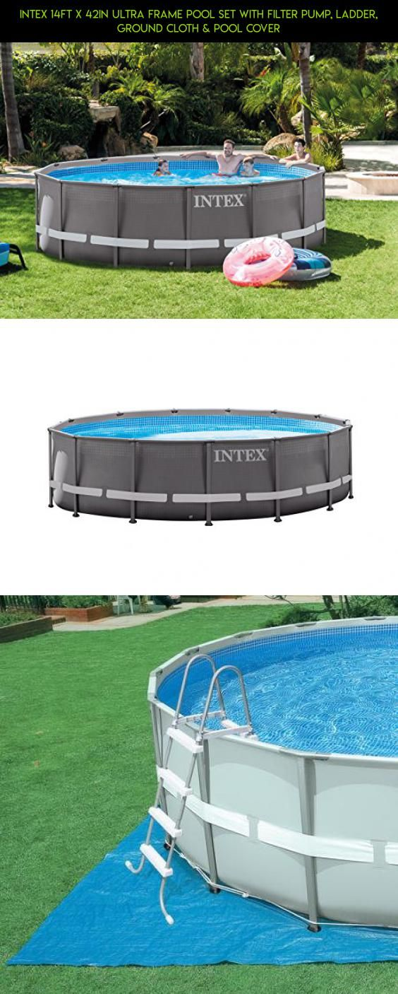 Intex 14ft X 42in Ultra Frame Pool Set with Filter Pump, Ladder ...