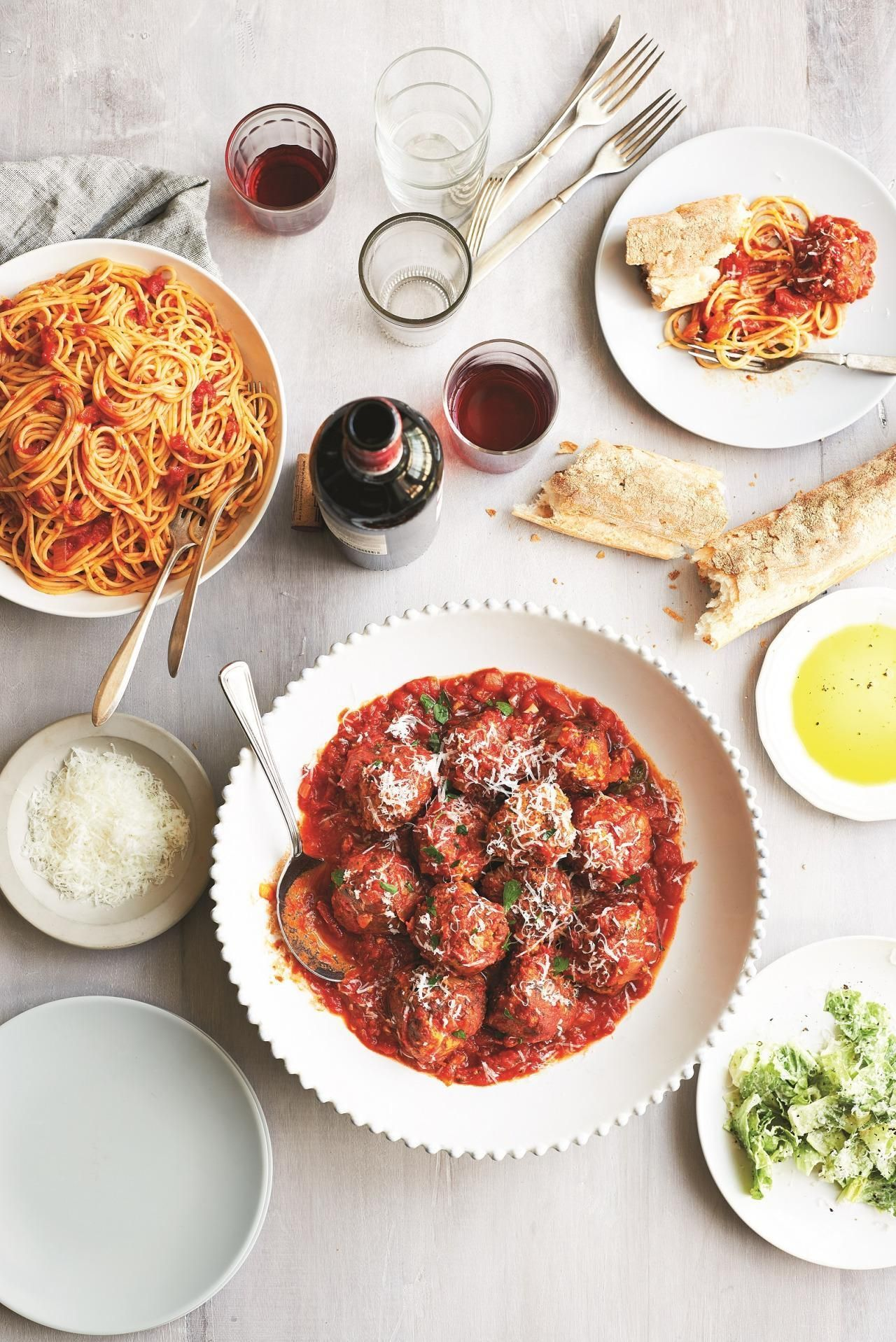 Italian meatballs new jersey style from the chef next door this crowd pleasing recipe comes from the chef next door a pro chefs recipes forumfinder Image collections