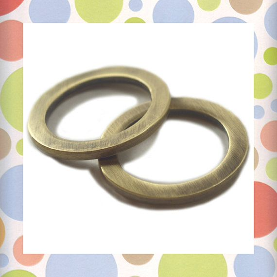 Flat Cast O Rings 1 Inch Antique Brass Bronze by BagmakerSupply | LP ...
