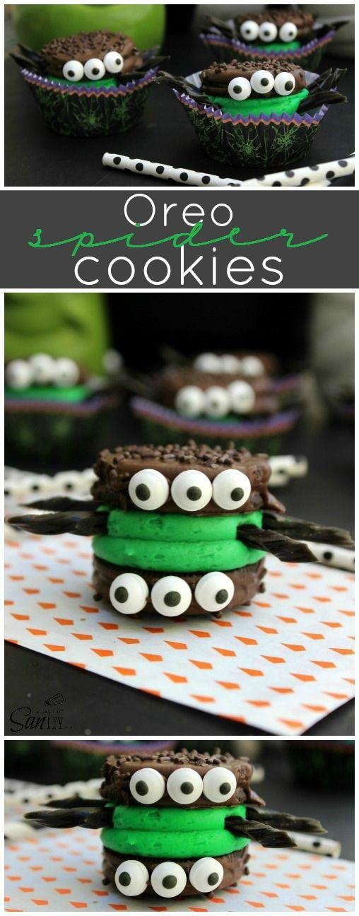 Monster Halloween Cookies: Oreo Monster Cookie Sandwiches