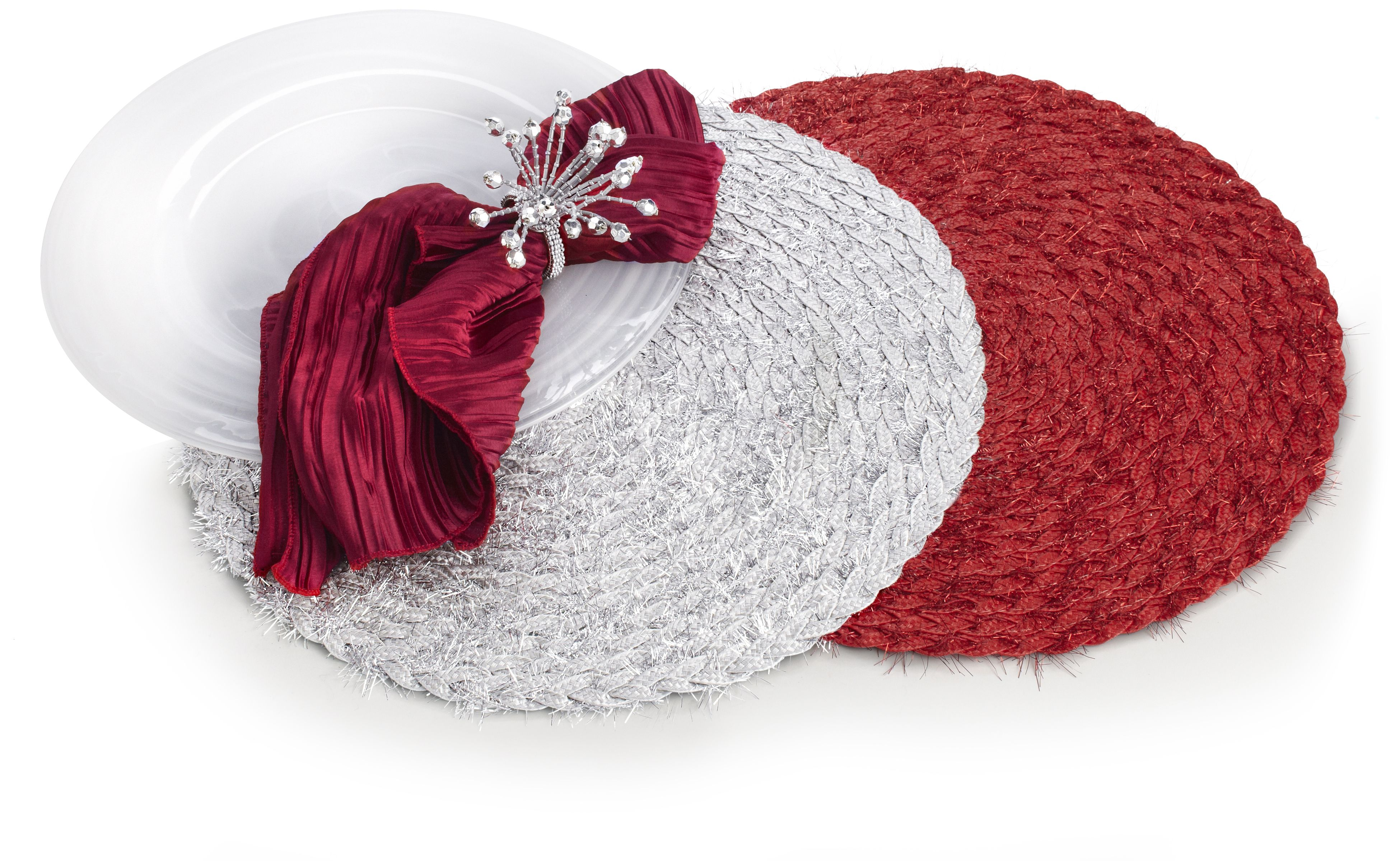Pier 1 Round Tinsel Placemats are pretty, sparkly and fun
