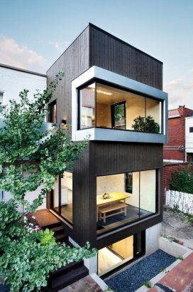 a couple with a passion for contemporary architecture wanted an extension to their duplex on berri street in mo - Home Architecture Design