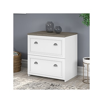 Bush Furniture Fairview 2 Drawer Lateral File Cabinet Letter Legal Shiplap Gray Pure White 29 57 Wc53681 03 Staples In 2021 Bush Furniture Filing Cabinet L Shaped Desk With Storage Lateral file cabinets for sale