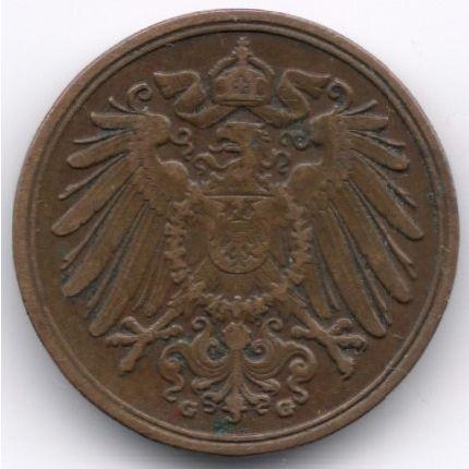 Germany 1 Pfennig 1908 G