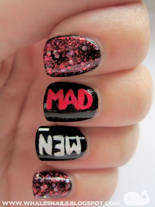 Mad Men Nails | Nails...Patterns & Designs | Pinterest | Mad men ...