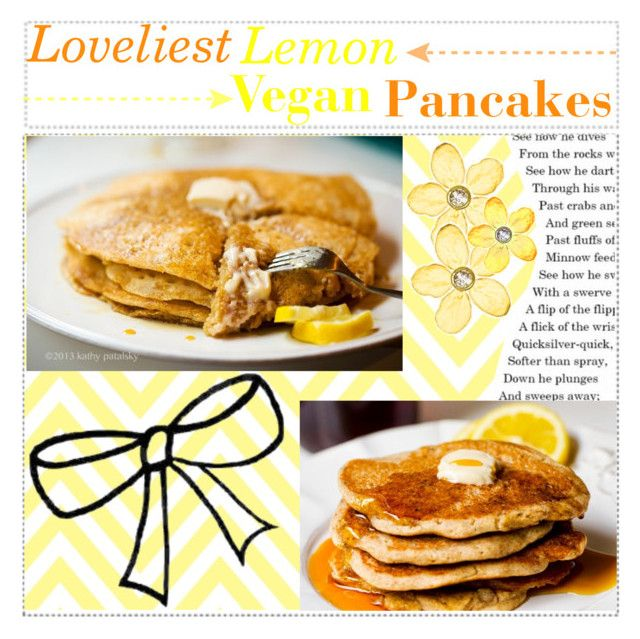 Loveliest Lemon Vegan Panckaes by shamailah on Polyvore featuring arte and cadencetips