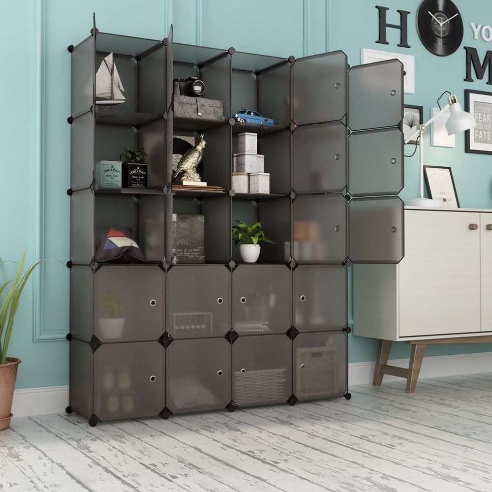Clothes Closet Organizer 20 Cube Drawer Unit Cabinet Wardrobe Bedroom Armoire Clothesclosetorganizer Cube Rangement Stockage De Cube Rangement