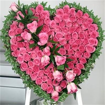 Bunga Cinta Bentuk Hati Yang Romantis Dengan Gambar Bunga