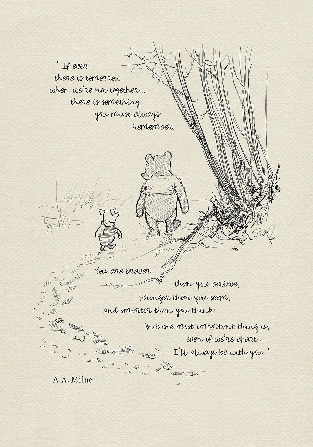 You are braver than you believe Winnie the Pooh Quotes