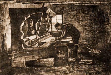 Tejedor En El Telar Autor Vincent Van Gogh Fecha 1884 Museo Museo Nacional Van Gogh Características 26 X 21 Cm Material Lápiz Tinta China Est