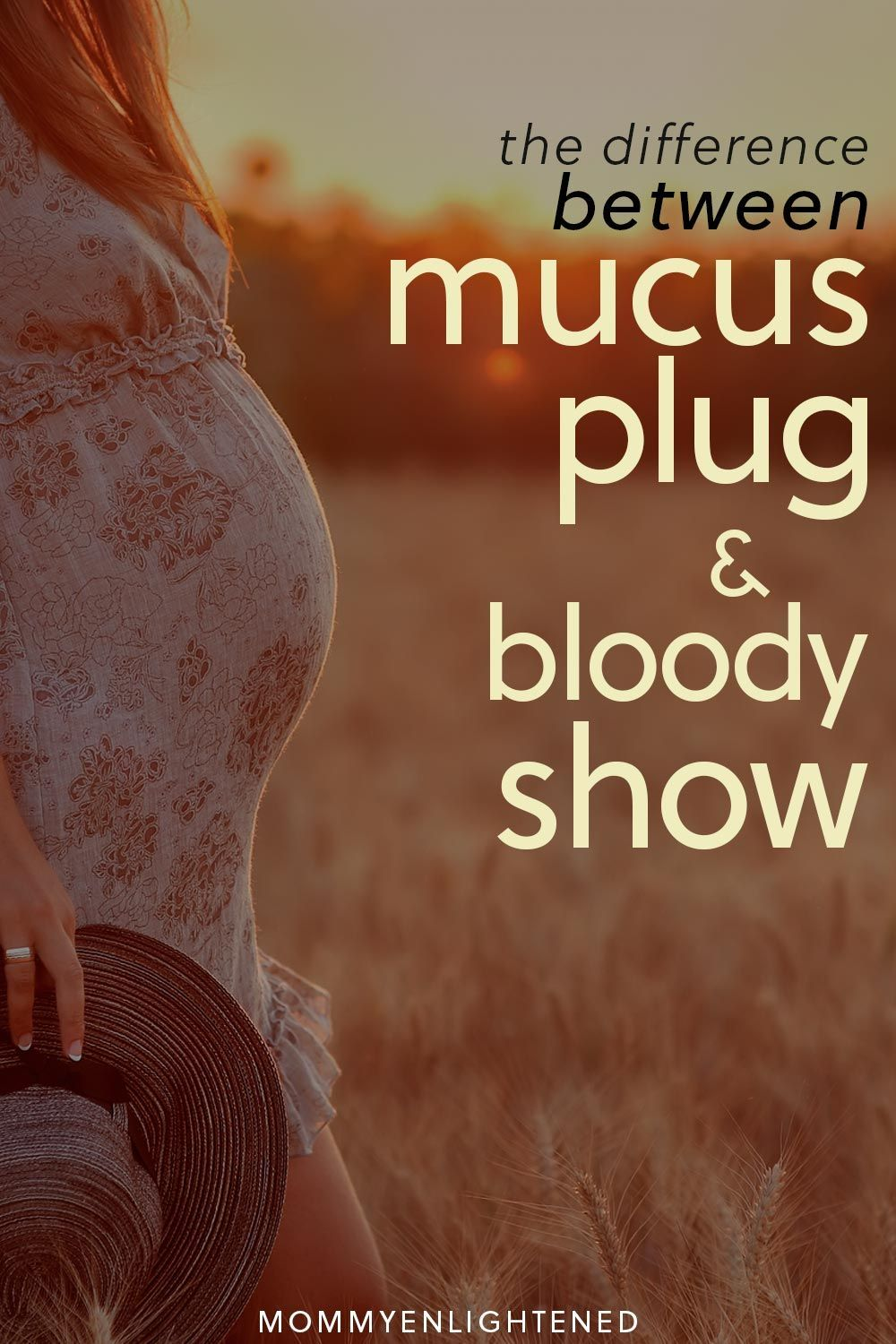 What's the Difference Between Bloody Show & Mucus Plug