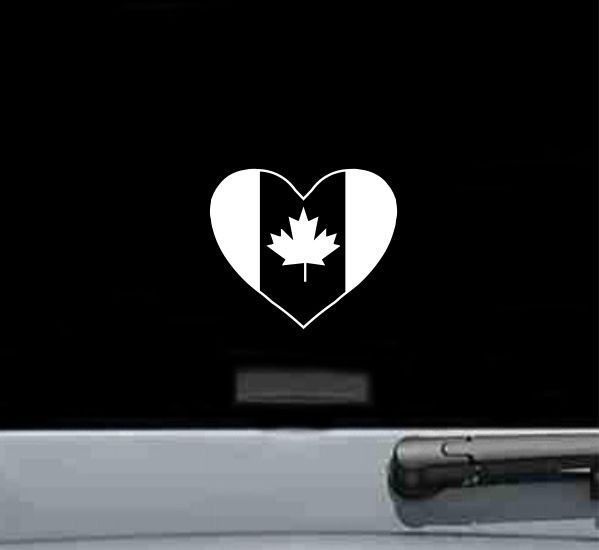 Details About Canada Heart Vinyl Decal Sticker Country Love Pride - Vinyl decal stickers canada