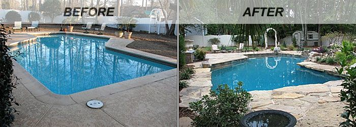 Swimming Pool Renovations: Before and After | Pool remodel ...