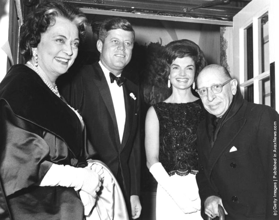 President and Mrs. Kennedy host a White House dinner in honor of world renowned pianist, composter and conductor Igor Stravinsky, accompanied by his wife Vera Stravinsky ~ Jan. 18th, 1962  ❤❤❤❤❤