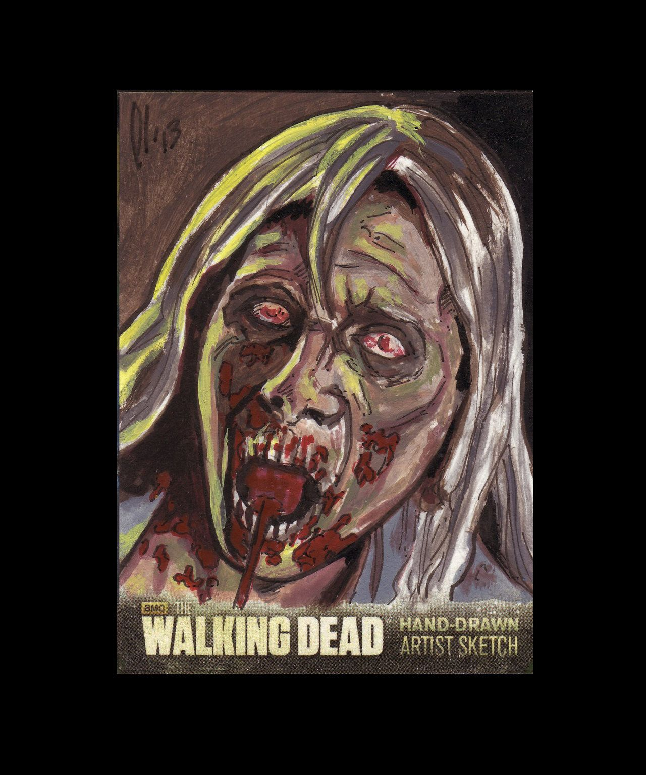Walking Dead Season 3 Sketch Cards Lee Lightfoot by LeeLightfoot.deviantart.com on @deviantART