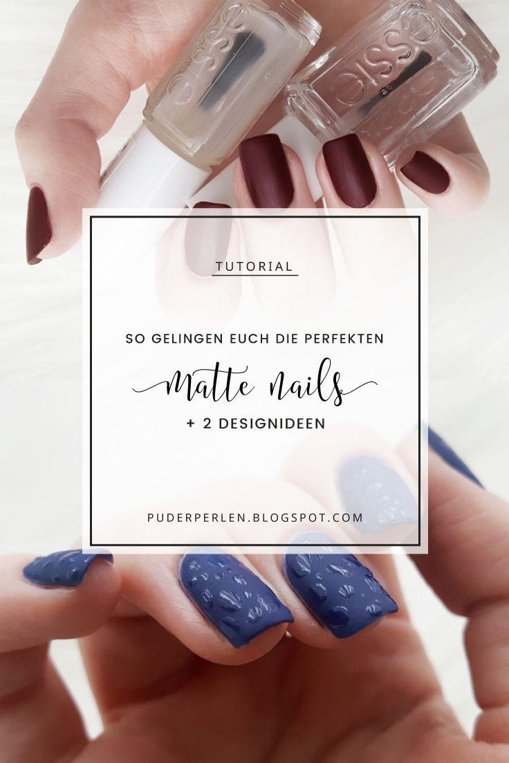 Tutorial] Die perfekten matten Nägel + 2 Designideen #ManiTober ...
