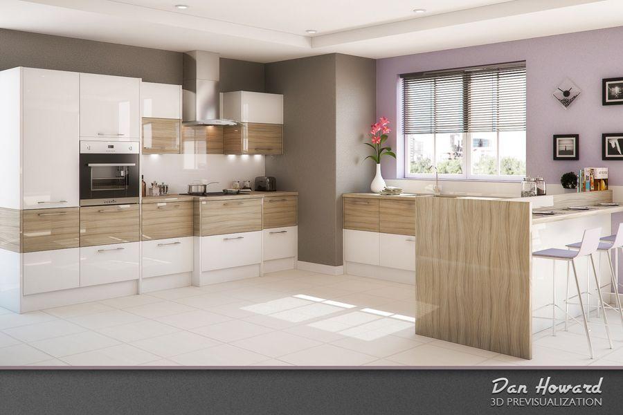 Gloss Matt Wood Kitchen Finishes: Nice Interior Kitchen Design