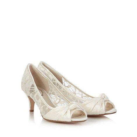 Debut White mid court shoes | Debenhams