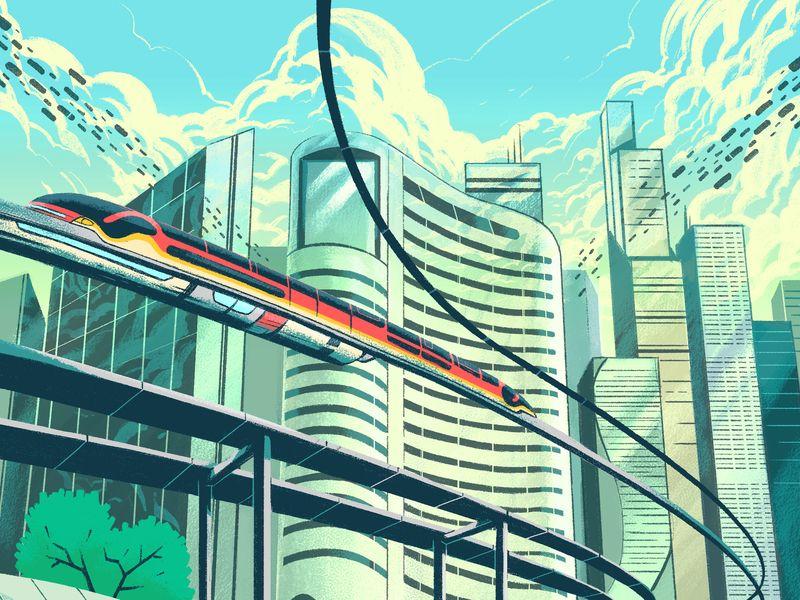 Smart Cities City Drawing Futuristic City Smart City