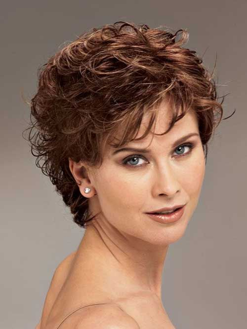 25 Cute Short Hairstyle Ideas For Round Faces Short Curly