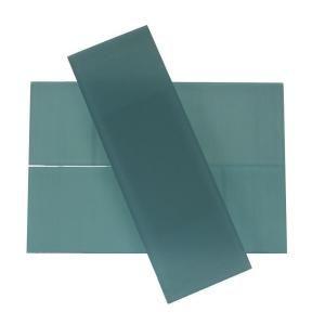 Splashback Glass Tile Contempo 4 In X 12 In Blue Gray Frosted Glass Tile Contempobluegrayfrosted4x12glasstile At Splashback Tiles Mosaic Flooring Glass Floor