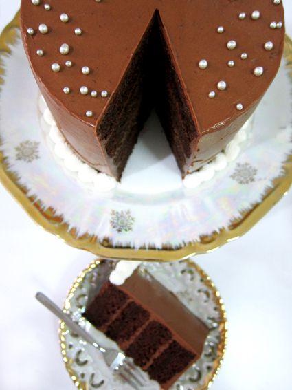 Fern Fuschia Cakes: Perfect Double Dark Chocolate Rum Cake