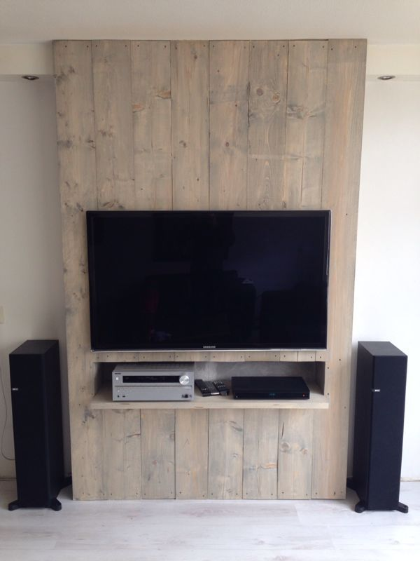 Tv Meubel Steigerhout Jpeg 600 800 Tv Wall Wall Mounted Tv Tv Wall Design
