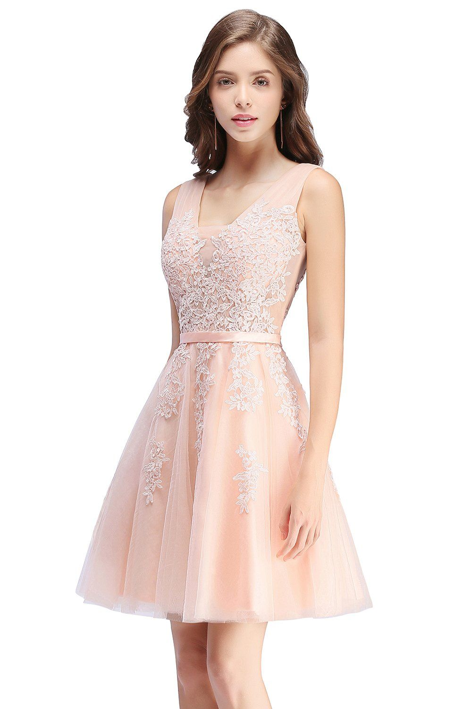 Juniors short masquerade ball gown lace semi formal