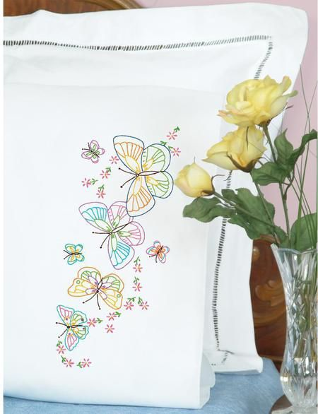 Pillowcases - Embroidery Patterns & Kits - 123Stitch com