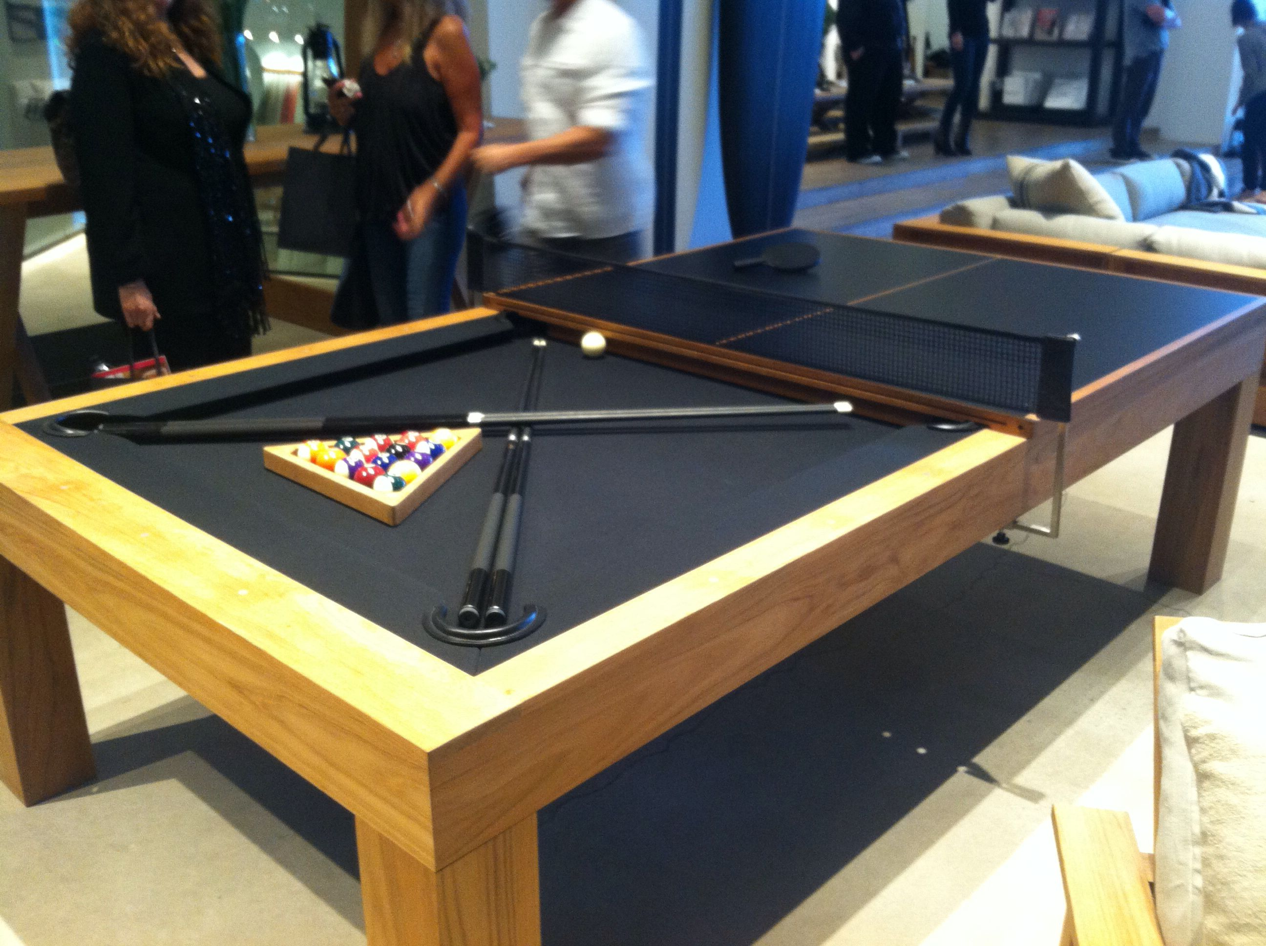 Delicieux Beautifully Crafted James Perse All Teak Billiards Table.