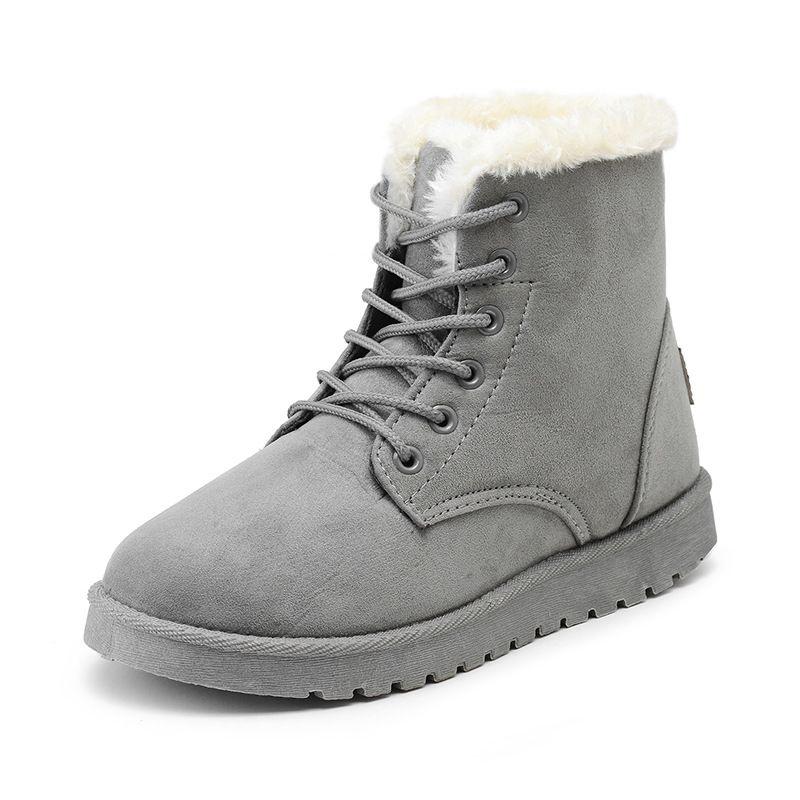 7972497c2cb3 Winter Boots Suede Snow Boots Female Warm Fur ~ shop sale snow boot ...
