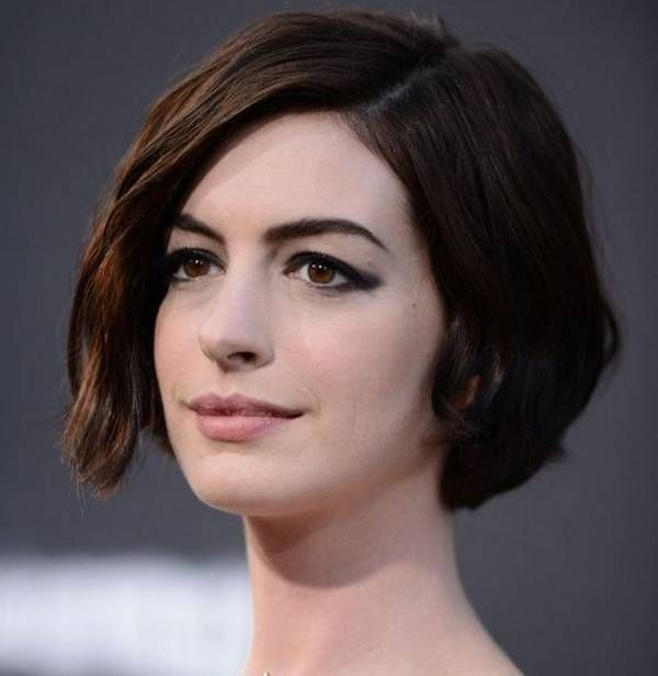 Tremendous Anne Hathaway Bob Anne Hathaway And Short Bob Hairstyles On Pinterest Hairstyles For Men Maxibearus