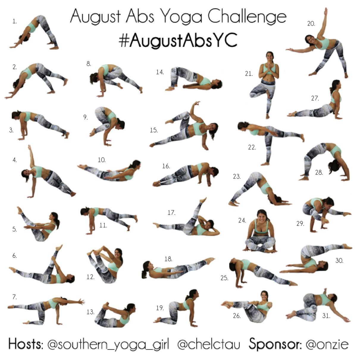 August Abs Yoga Challenge Part 2