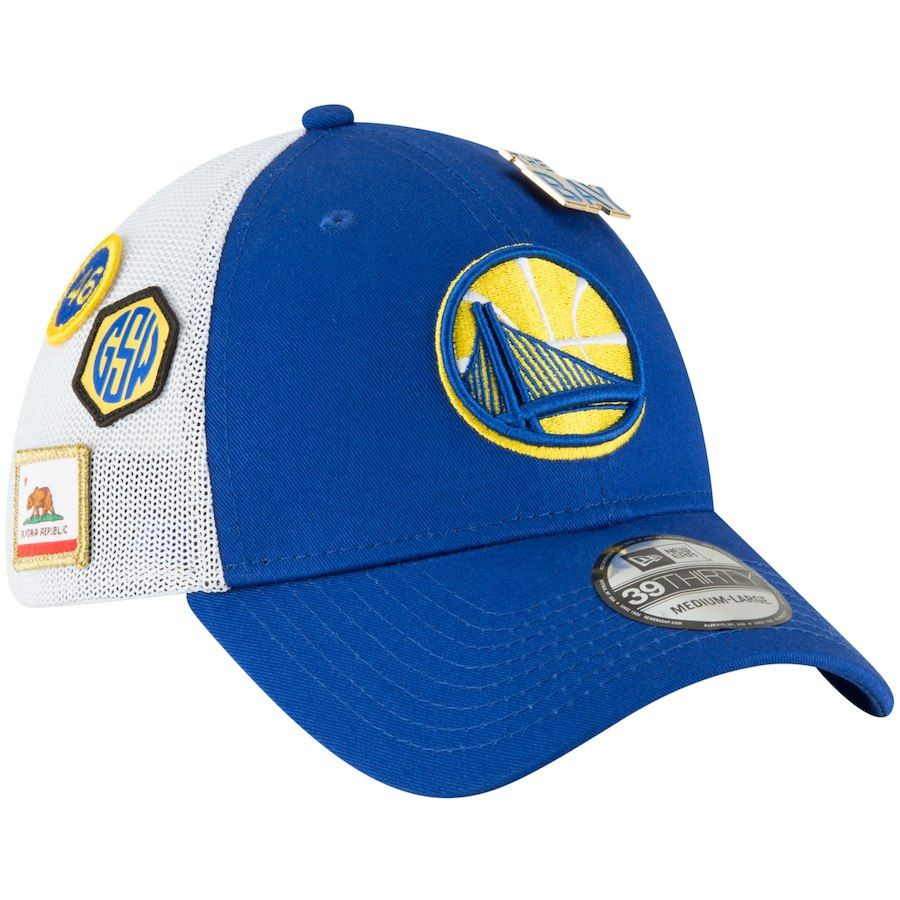 dd5d43234e5ad Men s Golden State Warriors New Era 2018 Royal Draft 39THIRTY Fitted ...