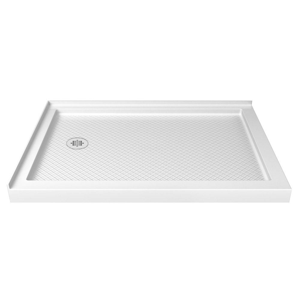 Dreamline Slimline 34 In X 48 Double Threshold Shower Base White