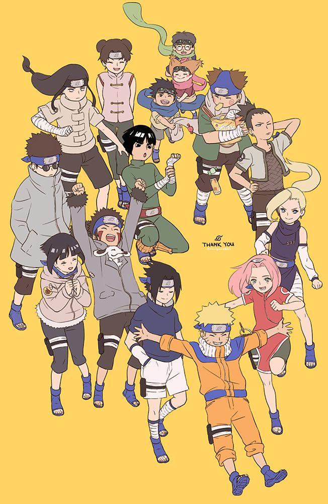 Naruto Sakura Sasuke Konahamaru And His Friends Neji Tenten