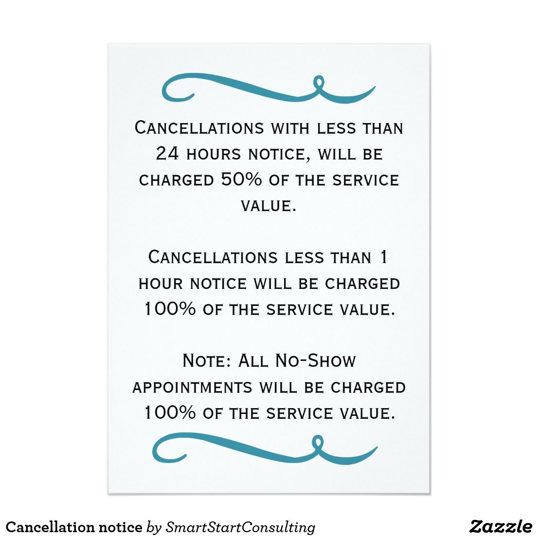 Cancellation Notice Card Ad Are You Looking For A Cancellation Poster For Your Work We Have Created A Variety Of Styles I Salon Promotions Salons Salon Signs