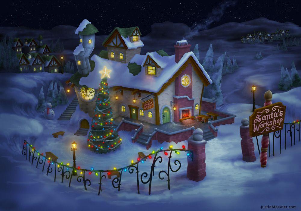 Justin Messner Santas Workshop 3d 1000 700