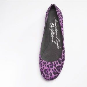 PURPLE leopard print flatscan't wear