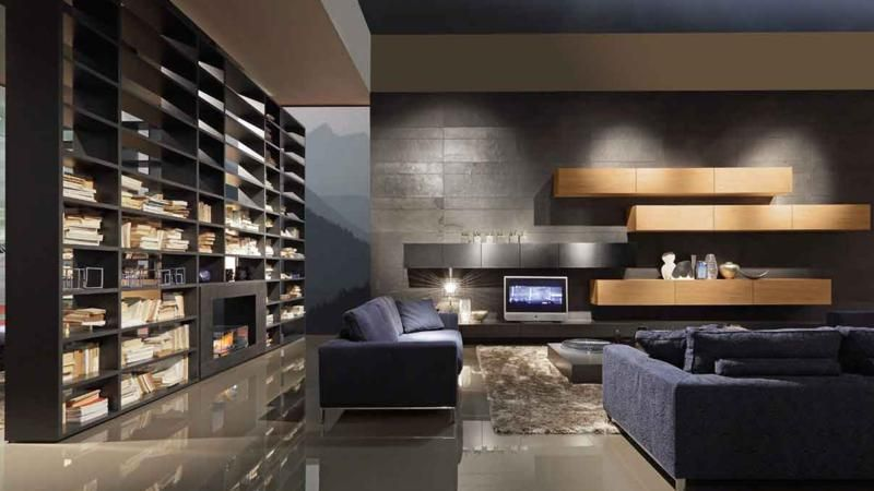 Modern Living Room With Large Bookcase  Design Haus  Pinterest Fascinating Designing Your Living Room Ideas Decorating Design