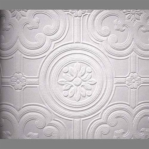 Perfect Anaglypta Premium Textured Vinyl Egon Classical Paintable Wallpaper By  Burke Decor CEILING TILE?