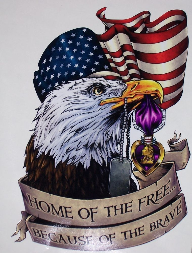 American Flag Eagle Purple Heart Decal Camper Rv Mural Graphic Sticker Decals American Flag Eagle American Flag Tattoo American Flag Pictures