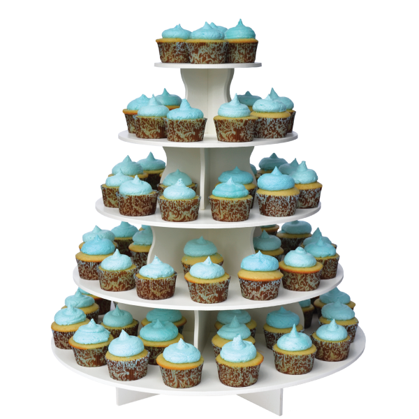 The Smart Baker 5 Tier Round Cupcake Tower 55 97 Http Www Thesmartbaker Com Products 5 Tier Round Cu Dessert Stand Cake Pop Stands Plastic Cupcake Stand