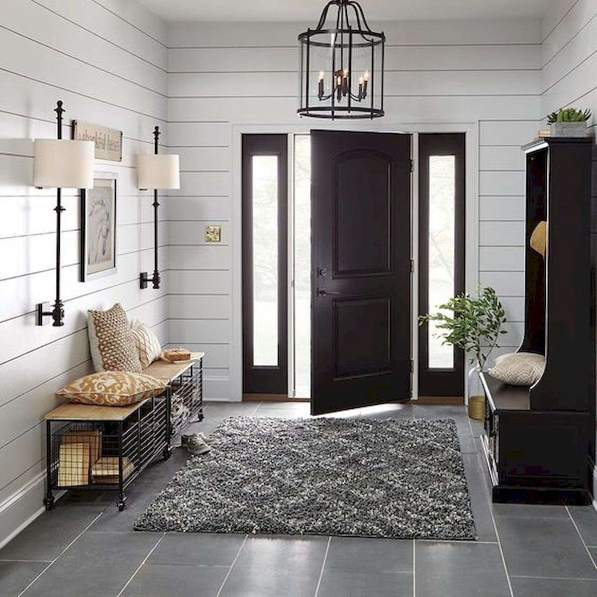 70 Best Modern Farmhouse Front Door Entrance Design Ideas