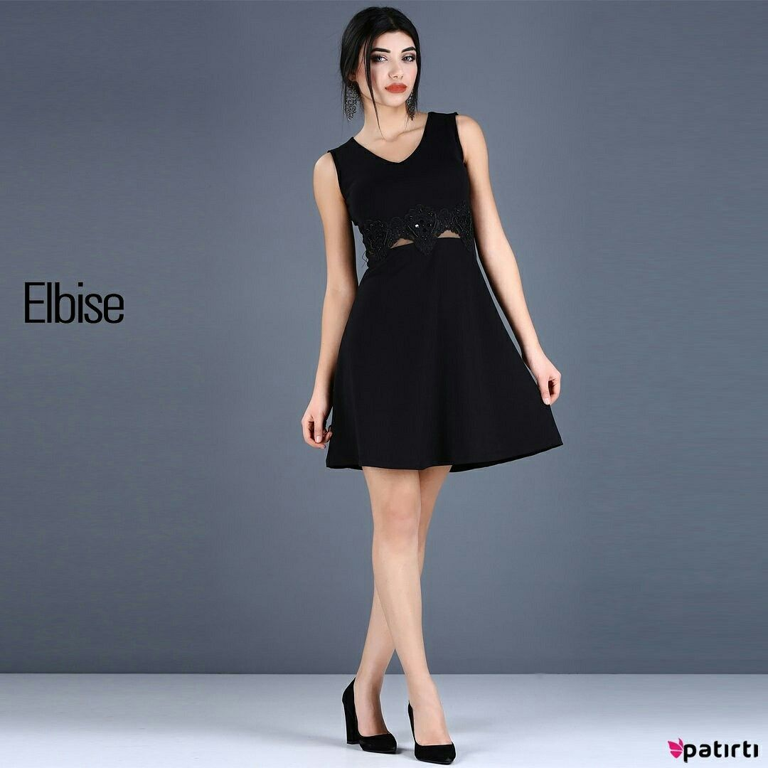 Urun Kodu 36835 Bugun Patirti Com U Ziyaret Ettin Mi Sirt Dugme Detay Kolsuz Klos Etek Siyah Elbise Alisveris Moda Style Fashio Elbise Moda Clothes