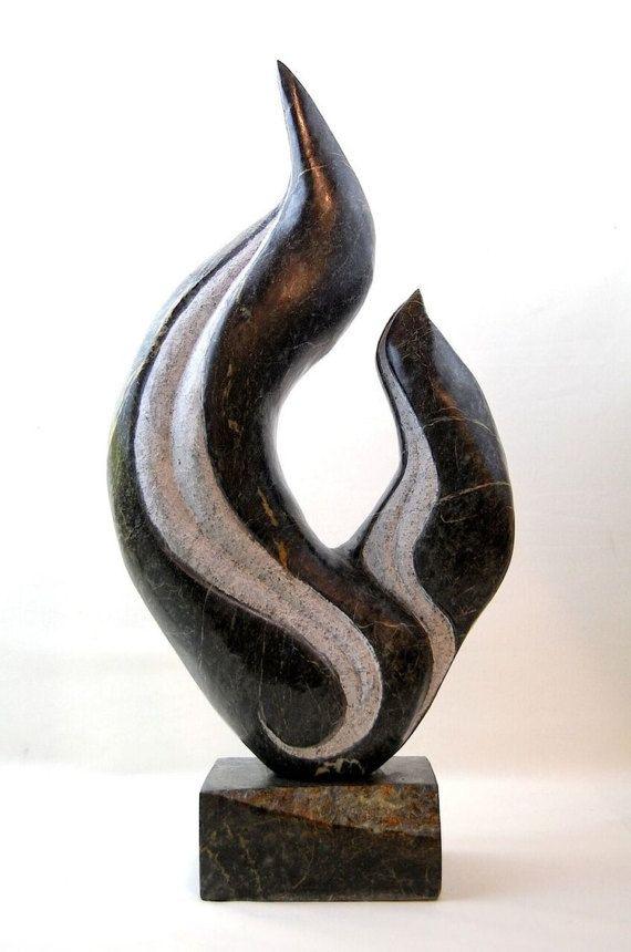 Office sculpture, abstract sculpture, stone sculpture, gifts for men, home decor, table top sculptur