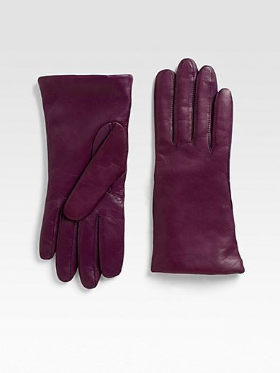 bd6a0fd730ad4 $70 Saks Fifth Avenue Collection - Fownes Leather Touch Screen Gloves -  Saks.com
