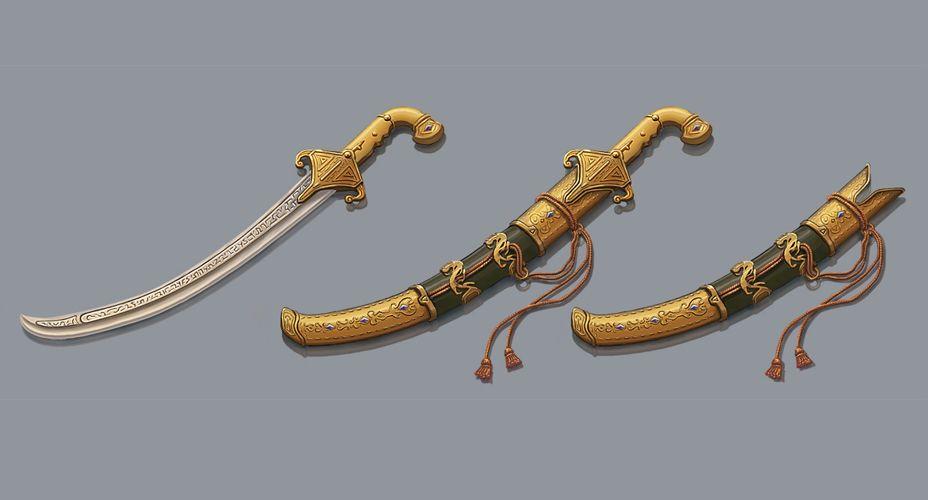 oriental weapon design, props