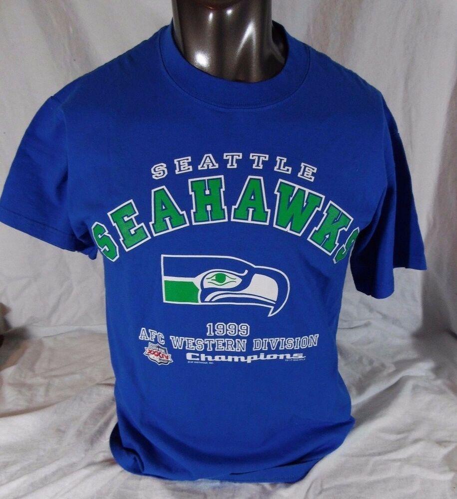 Details about Vintage Seattle Seahawks 1999 AFC West