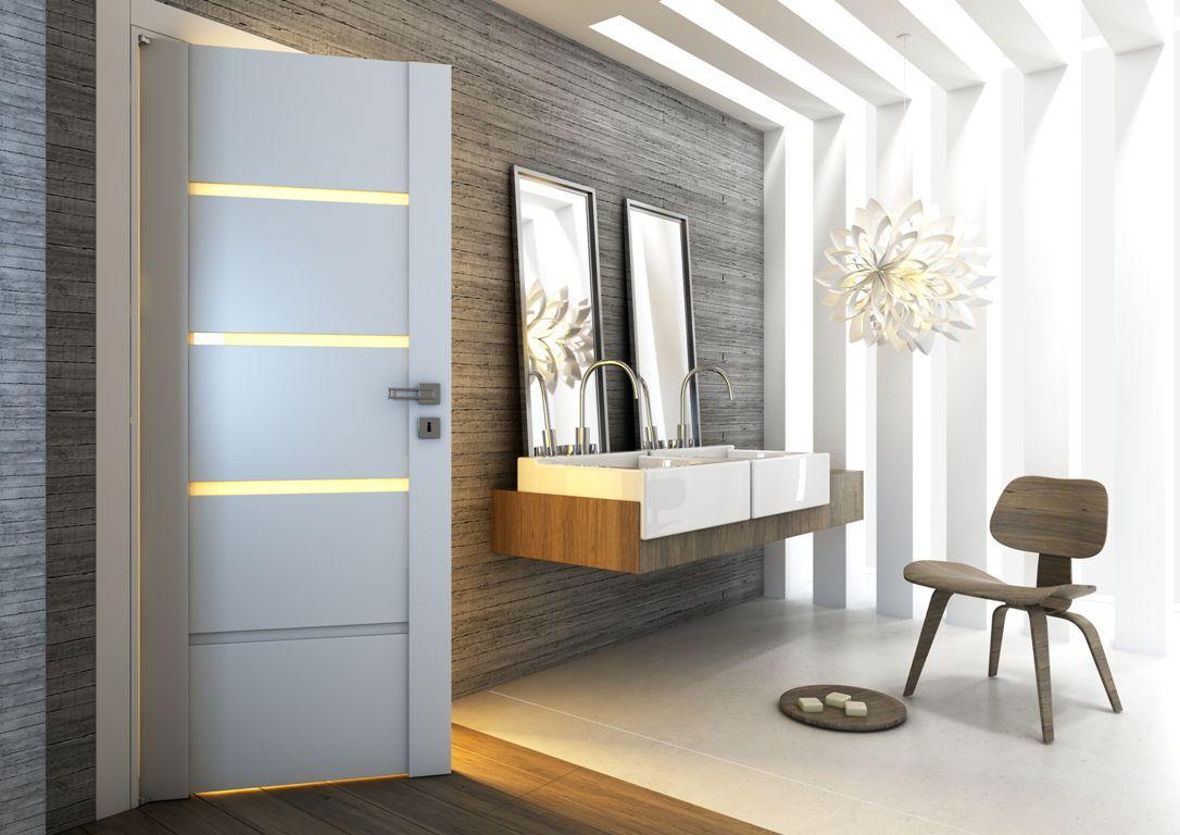 Drzwi Wewnetrzne Passo Uzupelnia Minimalistyczna Aranzacje Lazienki Home Doors And Floors Interior